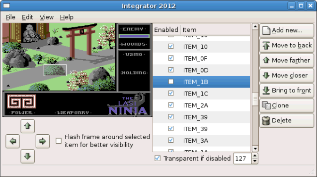 The Last Ninja Location Editor aka Integrator 2012