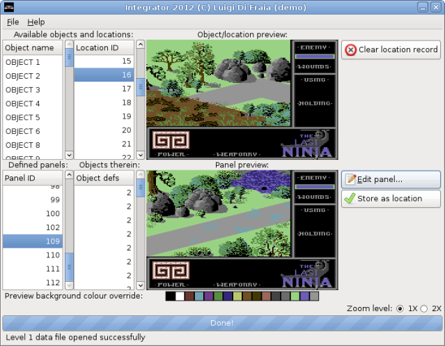 Integrator 2012 demo with support for colour override - Linux by Luigi Di Fraia
