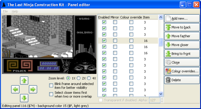 The Last Ninja Construction Toolkit: panel editor by Luigi Di Fraia
