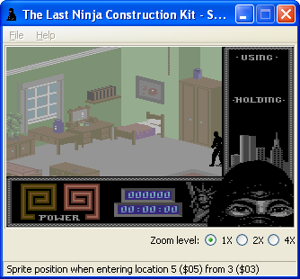 The Last Ninja Construction Toolkit: sprite position editor by Luigi Di Fraia