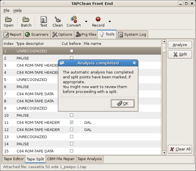 TAPClean FE - Automatic TAP split tool by Luigi Di Fraia