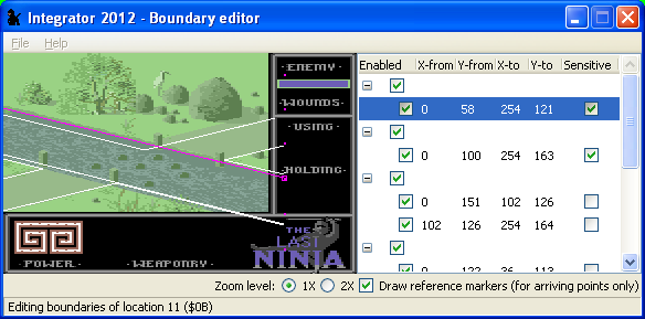 Boundary editor for LN with sensitivity status by Luigi Di Fraia