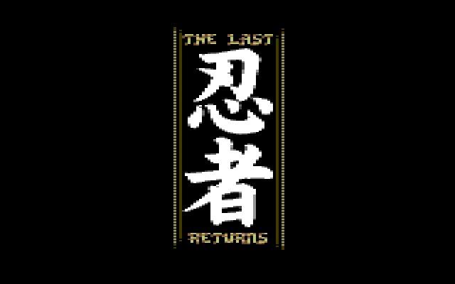 The Last Ninja Returns: logo by Luigi Di Fraia