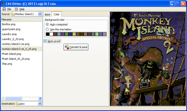 C64 Dither 2: Monkey Island 2 SE dithered by Luigi Di Fraia