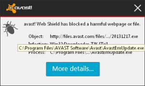 Avast blocking itself by Luigi Di Fraia