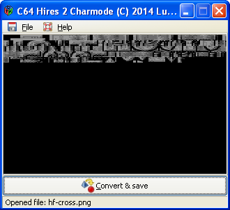C64 Hires 2 Charmode - Resulting fontset