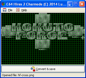 C64 Hires 2 Charmode (logo by DMD)