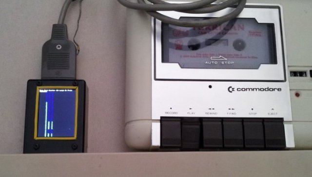 Tape Port Monitor connected to a C64