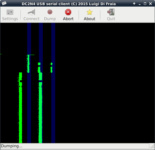 DC2N4 USB serial GUI client under Linux