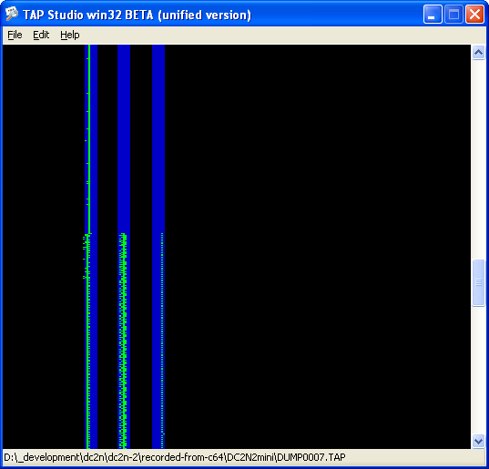Signal recorded by DC2N2 from the C64