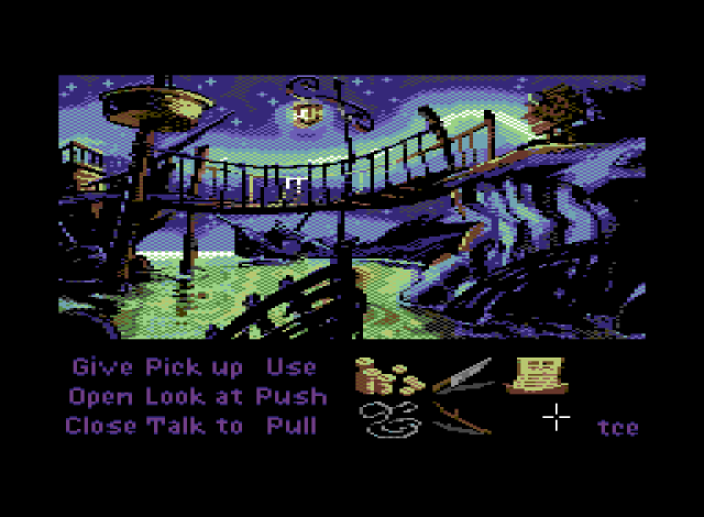 Monkey Island 2: initial location for the C64