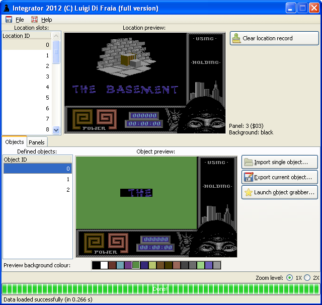 Corrected load screen in Last Ninja 2, level 4, as seen in Integrator 2012