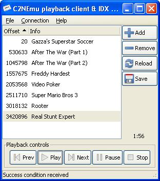 C2NEmu GUI playback client by Luigi Di Fraia