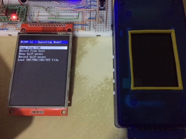 Testing a larger LCD for a new batch of DC2N5-LC devices by Luigi Di Fraia