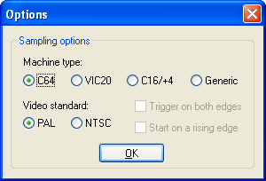 New sampling options dialog in DC2N4-LC native client