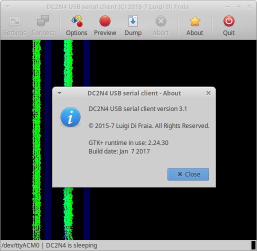Latest DC2N4-LC GUI client running in Xubuntu Linux 16.04
