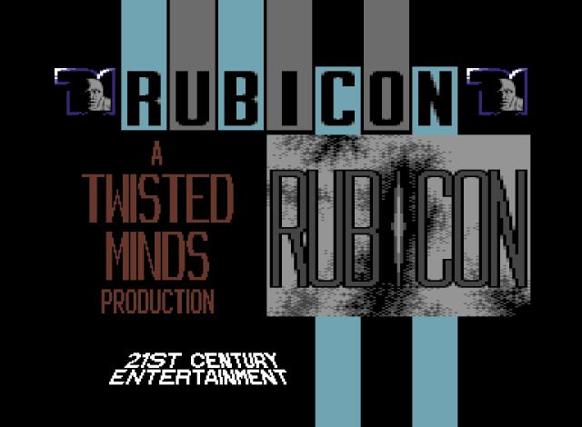 Rubicon title screen by Luigi Di Fraia