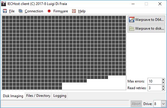 IECHost GUI client 2.7 running under Windows 10 by Luigi Di Fraia