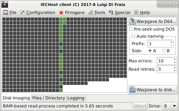 IECHost GUI client: special dumping comparison - RPi 3 Model B by Luigi Di Fraia