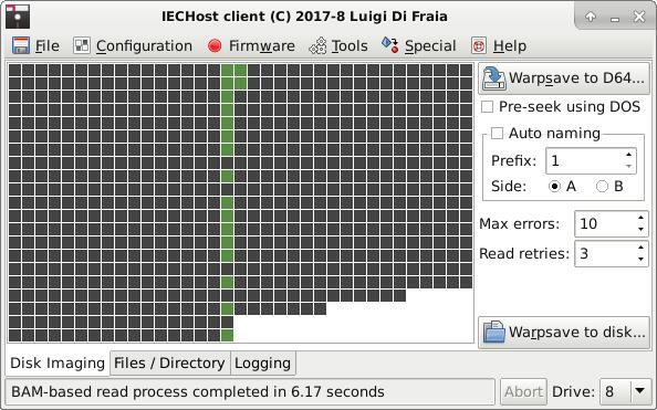 IECHost GUI client: special dumping comparison - Ubuntu 16 by Luigi Di Fraia