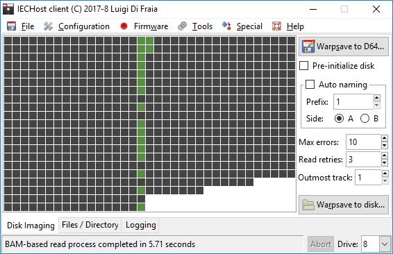IECHost GUI client: reduced BAM-based dumping time under Windows by Luigi Di Fraia