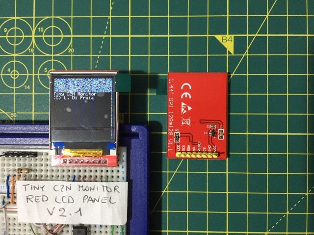ST7735-based display modules operated by the driver for the ILI9163-based module v2.1 by Luigi Di Fraia