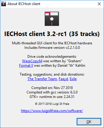 IECHost GUI client: version 3.2-rc1 available for testing by Luigi Di Fraia