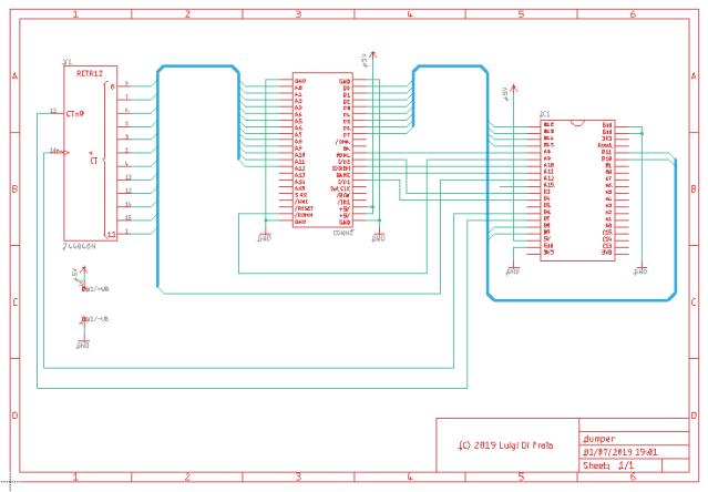 C64CartDumper Schematics by Luigi Di Fraia