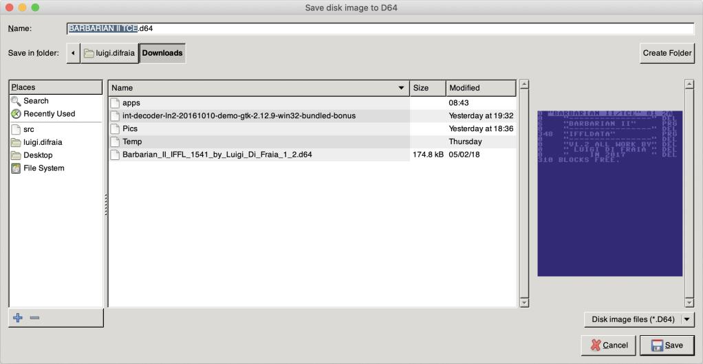 IECHost GUI client running on Mac OS X by Luigi Di Fraia